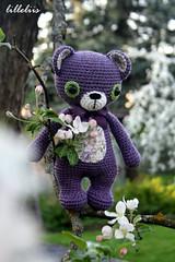 Treasure the Teddy (lilleliis) Tags: bear wool kids toy teddy crochet yarn softies amigurumi