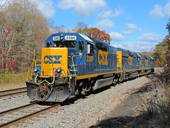 CSX 2386 (Trains & Trails) Tags: railroad autumn fall train october diesel pennsylvania engine transportation locomotive switcher csx somersetcounty rockwood emd 2386 darkfuture yn3 roadslug standardcab scsubdivision