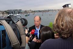 Carlos Carreiras em declarações à imprensa
