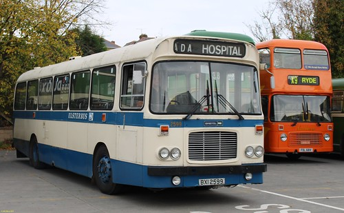 Alexander Belfast Bristol RELL6G BXI2599 at IOW Bus Museum 18 October 2015
