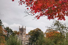 Lyndhurst Castle, Tarrytown, New York, USA (LuciaB) Tags: autumn usa newyork hudsonriver tarrytown fallcolours hudsonvalley lyndhurstcastle guildedage