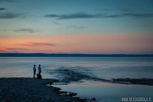 Zachód słońca nad Bajkałem