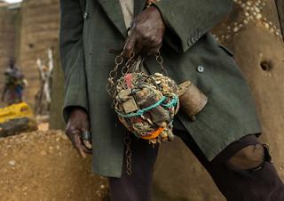 Benin, West Africa, Boukoumbé, mr kouagou maxon and his magic healer fetish