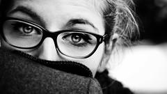Cache-nez (Christine Lebrasseur) Tags: portrait people blackandwhite woman france eye art canon dordogne hide teenager shoulder 169 fr léane molières allrightsreservedchristinelebrasseur