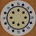 Dalvey Round Playing Card 8 of Spades