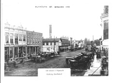 Plymouth Street - 100 Block east looking southwest - c1900