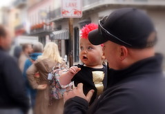 So Cute ! Si Mignonne ! (phoebus58) Tags: usa baby kid louisiana child neworleans blurred bebe nola enfant flou carrefranais