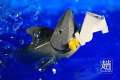 Minifigure Shark Attack (mikechiu86) Tags: sea water animal shark lego eaten minifigure sharkattack