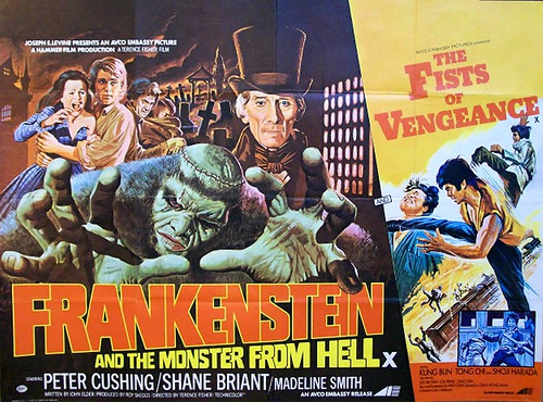 Frankenstein and the Monster from Hell: Poster GB