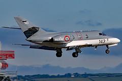 143 (GH@BHD) Tags: 143 dassault falcon falcon10 frenchnavy bhd egac belfastcityairport bizjet corporate executive military aircraft aviation