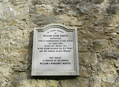 William Martin Esson Memorial, Church of Old Auchindoir, Auchindoir, Aberdeenshire, Feb 2016 (allanmaciver) Tags: william martin esson moewe german raider otaki margaret auchindoir aberdeenshire war sad humble allanamciver 1902 1917 killed action too young