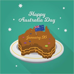 free vector Happy Australia Day With Cake & Flag  Background (cgvector) Tags: 26 australia badge banner british cake calligraphic canberra celebration constitution country day democracy democratic election empire festival flag flat freedom government grunge happy holiday honor independence island january justice liberation nation national new ocean oceania old pacific patriot pattern peace poster religion sign state strength symbol typographic vector victory vintage white