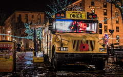 American Diner Bus on Grower Street (TehJazzi Photography) Tags: liverpool city centre photography long exposure colours albert dock salthouse liver building canon nikon d5500 100d wide angle 10mm 50mm 30mm prime american diner bus old school retro life ring christmas lights festival wheel echo arena reflections water quay boat port winter dark shows rides fun fair beatles story artistic photographer canvas prints