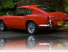 British Sports Car (swong95765) Tags: car vehicle sportscar triumph british reflection red