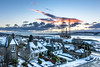 A snowy start to the day (Chris B70D) Tags: city dundee broughty ferry houses 3rd floor flat view fife snow winter frost sky clear clours oil rig living room landscape urban residential street gardens icy sun commute january scotland east coast river tay chris berridge canon 70d tokina 1116 f8