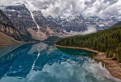 Heaven (Philip Kuntz) Tags: lakemoraine valleyofthetenpeaks stormy reflections moraine morainelakerockpile therockpile glacialwaters banff banffnationalpark alberta canada