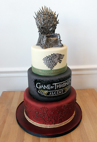 Game of Thrones 3-tiered Cake