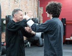 Sifu Trevor Haines practicing Chi Sau wit a student (rpennington9) Tags: kungfu wingchun martialarts dojochattanooga chisau exercise drill sifu tennessee chattanooga nikon nikond90