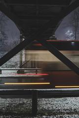 2017_01_14(20) (bas.handels) Tags: heerlen street night longexposure longexpo le snow sneeuw winter urban architecture bridge brug fuji fujixt1 xt1
