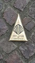 In Saint Jean Pied de port, getting directions against Santiago de Compostela!