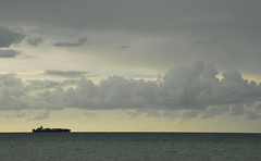 Dungeness - Channel View (richwat2011) Tags: septoctnov16 kent shepway dungeness sea seaside seascape clouds moodyclouds moodysky ship southcoast englishchannel lamanche nikon d200 18200mmvr