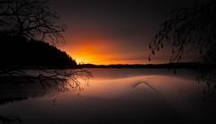 Icy sunrise (strupert) Tags: longexposure lee polarizer nikon morning reflections sunrise cold winter lake ice exposureblend norway trondheim jonsvannet