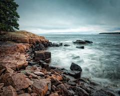 The Mood of the Sea Today, color (John C. House) Tags: everydaymiracles nik beach nikon d700 motion johnchouse acadia coast mtdesertisland rocks