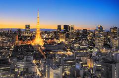 Tokyo tower (nilumbra_chen) Tags: sunset tokyo tokyotower japan nightscene asia architecture city scene yellow sony sonya7m2 goldenhour skyline 夜 日本 東京 東京タワー 港区 風景 landscape cityscape sky