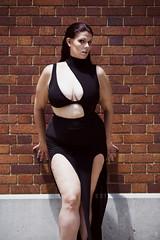 Strong Mind (Twylah McCullough) Tags: body positive positivity curvy pluz size woman tulsa downtown oklahoma black dress beauty portrait