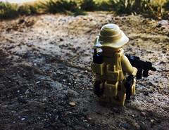 Dying light (Brick Operator) Tags: light desert dirt gun soldier lego toy cool army navy seal grass brickarms brick