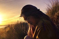 Jenny (lordgogurt) Tags: people person face portrait figure being body life girl gal female lady woman outdoor outdoors beach sunset dusk evening night nighttime dark darkness sky sun grass shore coast seasons winter hair dye color sit sitting seated