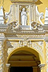 """Route of the Mayas"", Antigua, Guatemala, Monasterio La Merced, Overseas Adventure Tours"", visitors (David McSpadden) Tags: overseas adventure tours route mayas antigua guatemala monasteriolamerced visitors baroquefacade stucco plaster"
