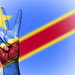 Peace Symbol with National Flag of Democratic Republic of the Congo
