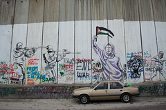 Graffitis (rrestout) Tags: other palestine art military car things buildings israel bethlehem wall urban streetart