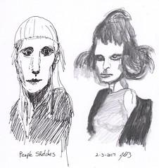People Sketches 3 (jimblodget) Tags: pen sketch portrait faces people pencil ink penandink