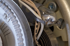 Quicksilver (brucetopher) Tags: macromondays madeofmetal thermostat mercury metal coil gadget quicksilver liquid heat winter
