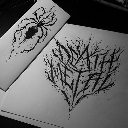 death metal wlk letters lettering script deathmetal blackmetal