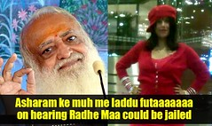 Troll / Jokes On Radhe Maa (shoppingkabaap) Tags: sexy public sex fun media mini skirt jokes troll ram exposed maa seduce bapu aasha surinder mittal radhe