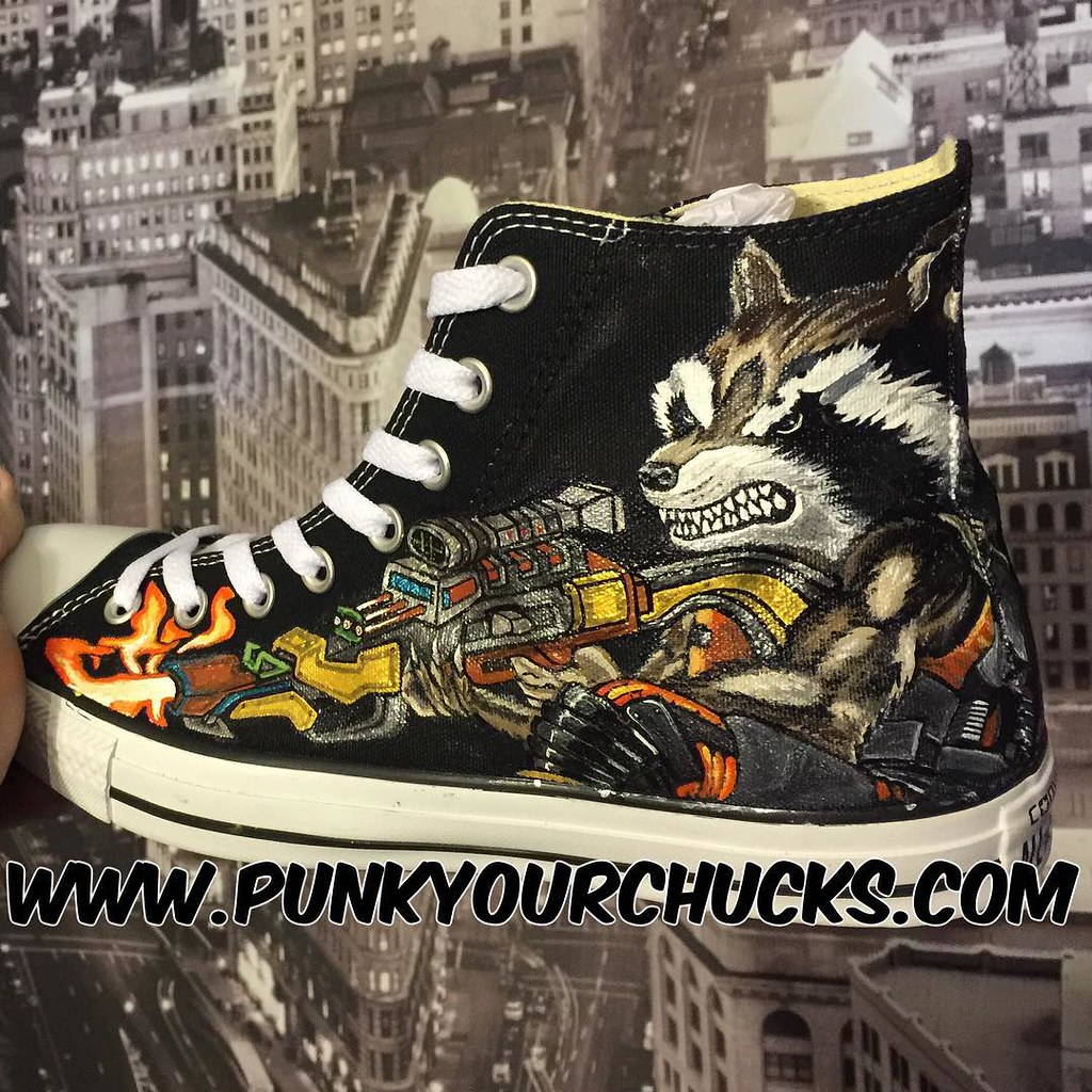 3eaaff13cb63 Custom  quot Rocket quot  Chuck Taylors Freehand Painted by MAG