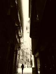 Medieval street, Barcelona Spain (ashabot) Tags: barcelona street spain cities catalunya streetscenes lightanddark worldcities