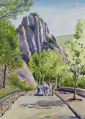 Por sierras oscenses (P.Barahona) Tags: rocas acuarelas excursiones