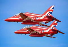 Red pair (Steve G Wright) Tags: display aircraft airshow redarrows raf fairford riat airdisplay