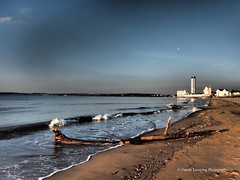 Sunrise and Hightide in Swansea Bay 2015 09 30 #9 (Gareth Lovering Photography 3,000,594 views.) Tags: beach water swansea sunrise sand olympus sa1 hightide breakwater lovering em1