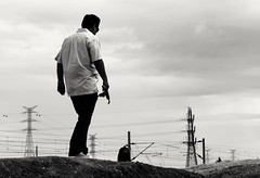 dad (Christie Rafael) Tags: composition documentary rail strong
