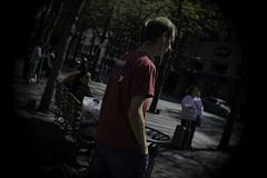 Artist as a Young Man (Paradise.Found) Tags: life seattle street city light shadow people urban usa art strange perception flickr shadows candid culture streetphotography documentary wideangle social depthoffield human essential environment sight framing unposed society critical interference insight reference decisivemoment observer interpretive streetphotographer descriptive paradisefound alienskinexposure streettogs miltongarrisonphotography