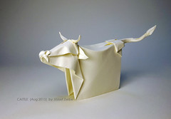 CATTLE (Aug 2015) (Zsebe Origami) Tags: cow origami cattle origamicow jozsefzsebe jozsefzsebeorigami jozsefzsebeswork origamicattle