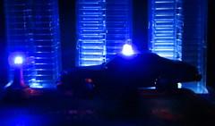 Corgi Toys Buick (Century) Regal Police Car No. 416 Converted Into A Futuristic Sci-Fi Hover Car : Diorama A Hover Police Car City Scene - 24 Of 98 (Kelvin64) Tags: city car century toys buick corgi no police scene scifi converted futuristic regal diorama hover 416 a into