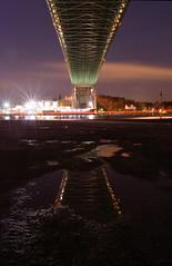 Under the bridge (benharwood1970) Tags: longexposure bridge reflection water night gteborg nikon sweden gothenburg sverige