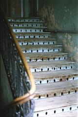 Stairs, but not to heaven... (Analog World Thru My Lenses) Tags: old stairs october prague praga forgotten warsaw expired warszawa 2015 ricohxr7 rikenon50mmf17 epsonperfectionv800photo kodacolorvr200plusexp