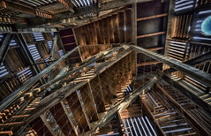 Bars and stripes (wimvandemeerendonk) Tags: building tower contrast utrecht heaven kaapsebossen stairway ultrawide hdr highdynamicrange stairwaytoheaven 2549faves provincieutrecht abigfave wimvandem